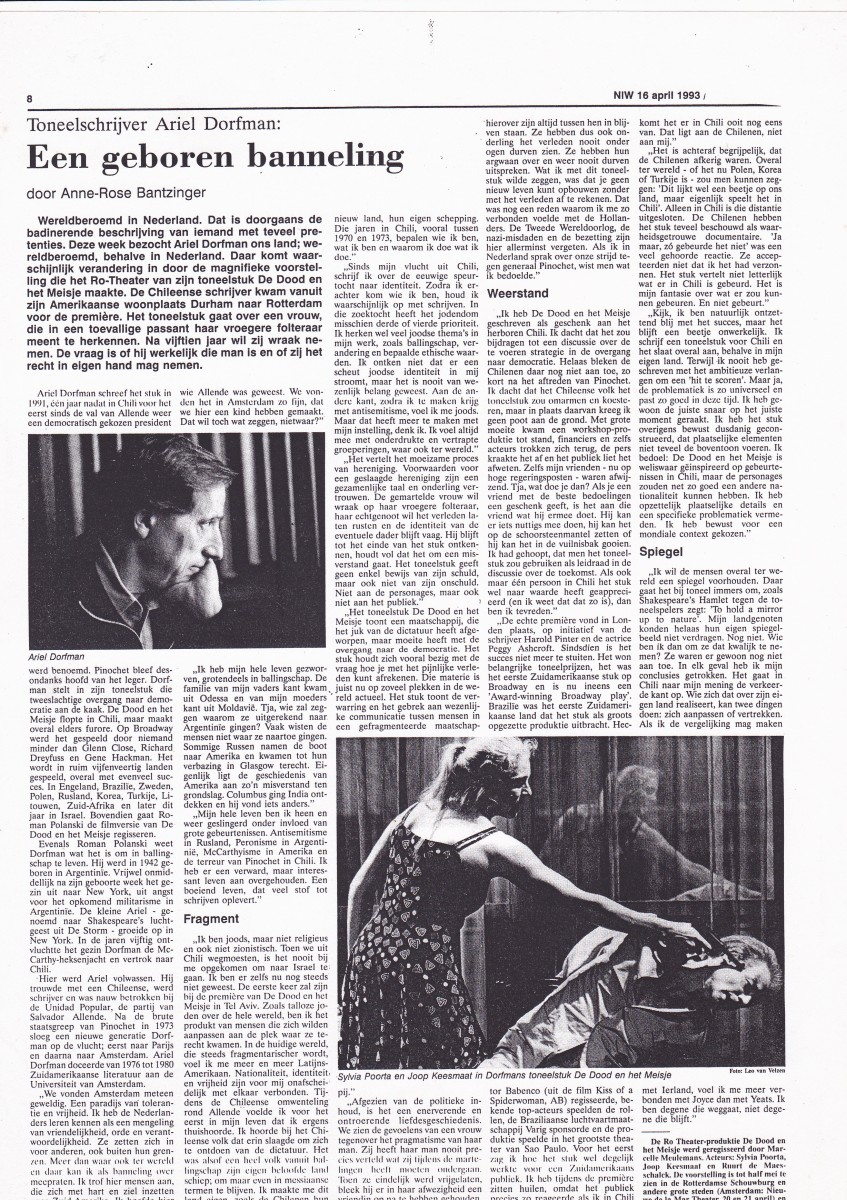 1993-04-16  NIW  Ariel Dorfman