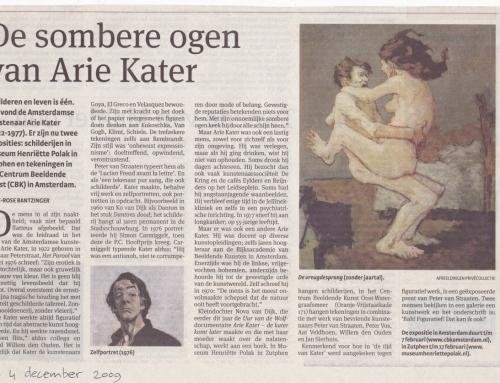 De sombere ogen van Arie Kater