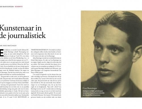 2. Hoofdstuk Biografie over Cees Bantzinger