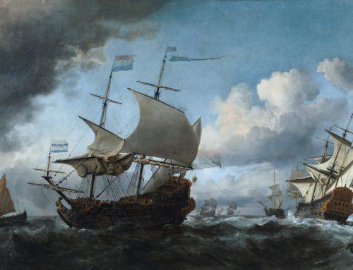 Willem van de Velde: het golft goed in het het Scheepvaartmuseum